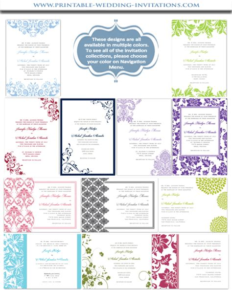 Diy Printable Wedding Invitations Templates diy wedding invitations printable stationery templates