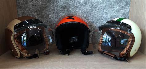 Helm Ink Anak Muda helm monza desain retro pilihan baru untuk bikers gilamotor