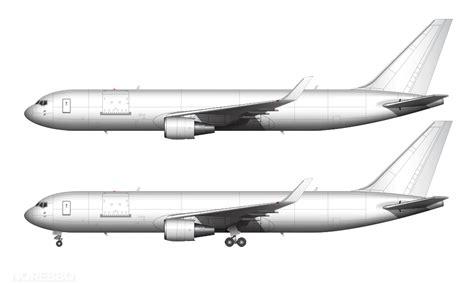 Boeing 767 300 blank illustration templates ? Norebbo