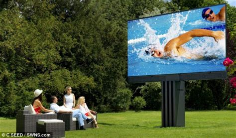Led Outdoor Tv Display porsche unveils world s largest tv that boasts a 201inch