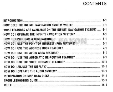 infiniti navigation system owners manual pdf download autos post 2001 infiniti i30 navigation system owner s manual original