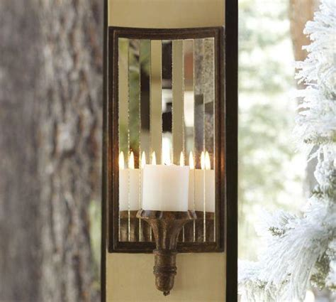 mirrored candle sconce pottery barn