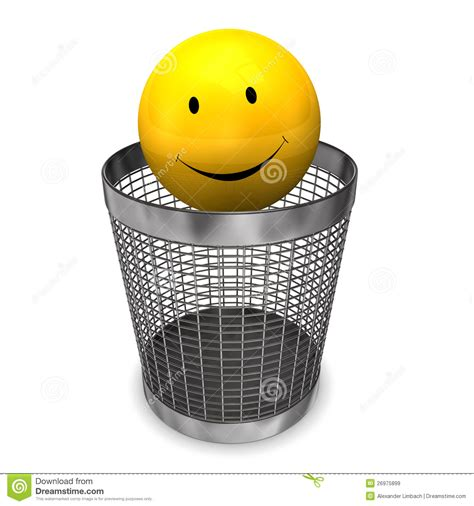 yellow wastebasket wastebasket yellow smiley royalty free stock images