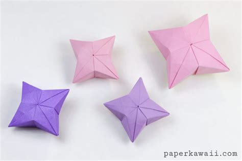 tutorial origami paper star 3d origami puffy star tutorial paper kawaii