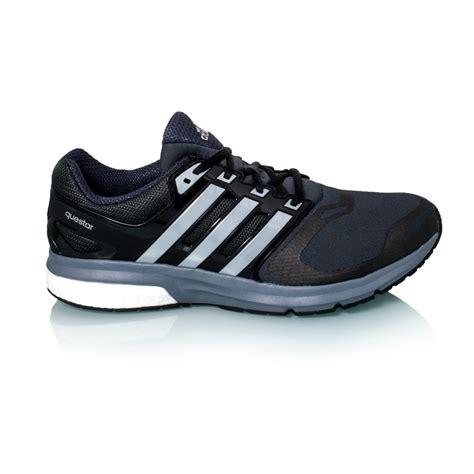 adidas questar boost techfit mens running shoes black silver metal grey sportitude