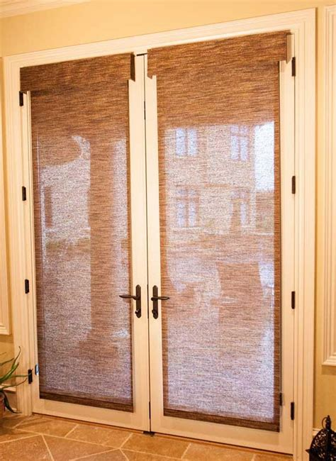 Blinds For Interior Doors Roller Shades For Doors Window Treatments Design Ideas
