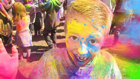 what color are the coolest holi festival of colors coolest messiest most