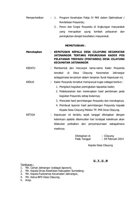 contoh surat keputusan kepala desa tentang pembentukan kelompok tani