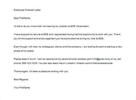 Thank You Letter When Leaving leaving company thank you letter free resumes tips