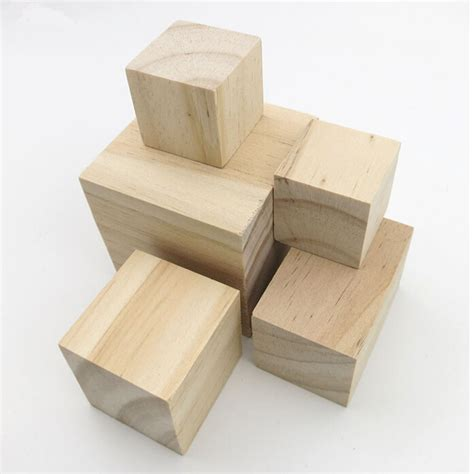 3cm cube solid wood cube wooden block early educational