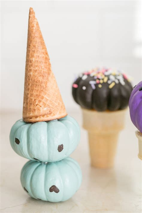 Painting And Decorating Tips diy pumpkin ice cream cones sugar and charm sweet