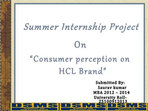 Hcl Summer Internship 2015 For Mba hcl