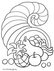 thanksgiving a thanksgiving cornucopia coloring page