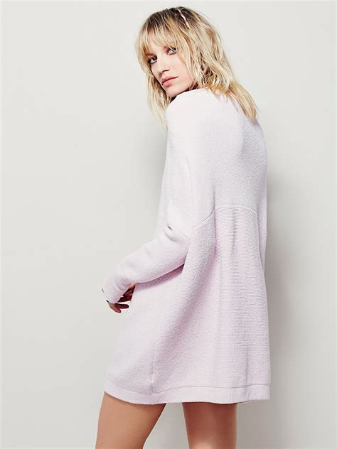 free people slouchy ottoman tunic free people womens ottoman slouchy tunic in pink lyst