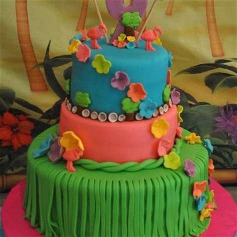 bizcocho decorado hawaiano pastel decorado hawaiano imagui