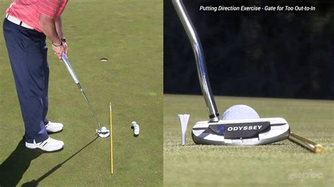 putting swing path putting exercise fix out to in path with the path drill