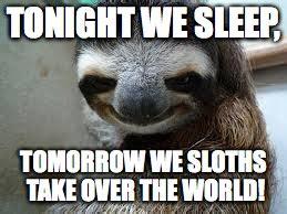 evil sloth imgflip