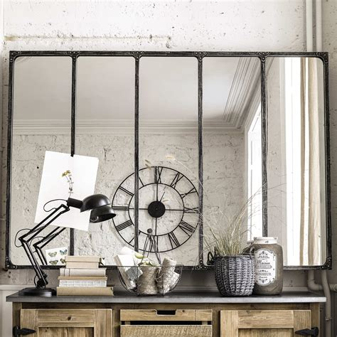 spiegel stil spiegel im industrial stil mit metallrahmen 180x124
