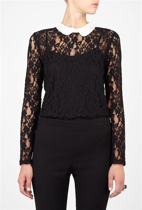 And Black Lace Blouse by Black Blouse Lace Blouse With