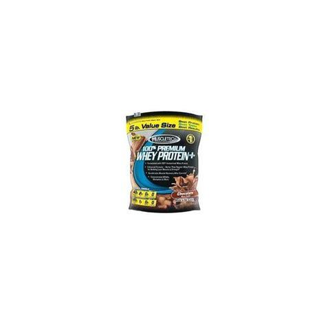 100 premium whey protein plus 5 lbs muscletech