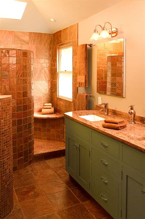copper bathroom tiles slate tile bathrooms top slate with slate tile bathrooms