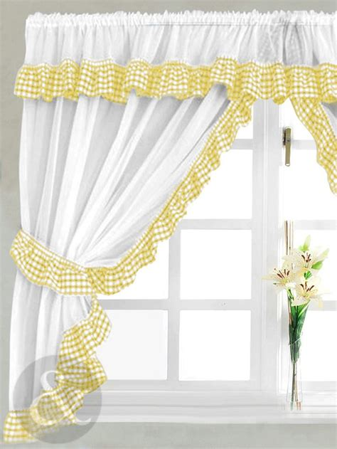 Kitchen Curtains Yellow Best 25 White Kitchen Curtains Ideas On Kitchen Curtains Small Kitchen Makeovers