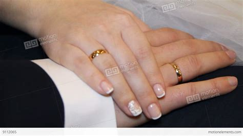 of and groom and wedding rings stock