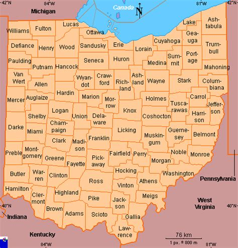ohio on a map of the united states clickable map of ohio united states