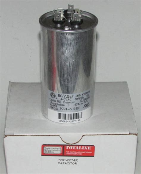 carrier bryant capacitor 60 7 5 mfd 440 volt bryant carrier dual run capacitor