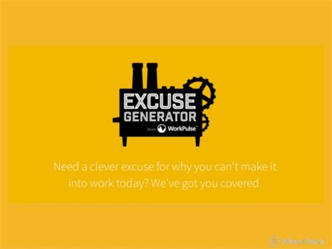 Excuse Note Generator the ultimate excuse generator excuses for when you re