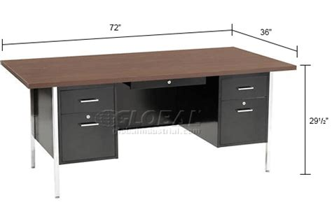 72 inch desk with drawers sandusky steel desk with center drawer pedestal