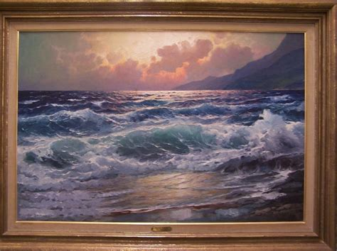 alexander dzigurski paintings superb 20th c american original oil painting pacific