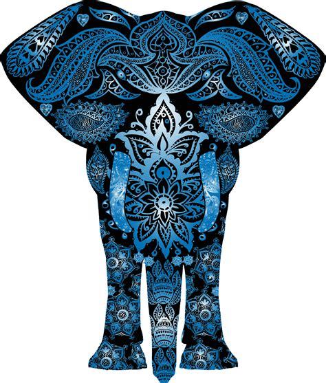 blue pattern png clipart blue floral pattern elephant