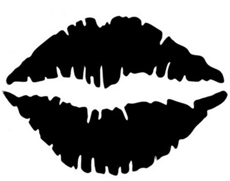 kissing lips stencil for tattoo spray tattooforaweek