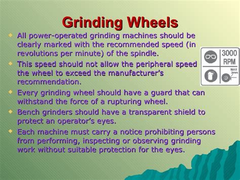 bench grinder safety procedures mechanical technology grade 12 chapter 3 safety in the