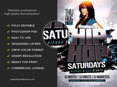 3d Hip Hop Flyer Template Flyerheroes 3d Flyer Templates