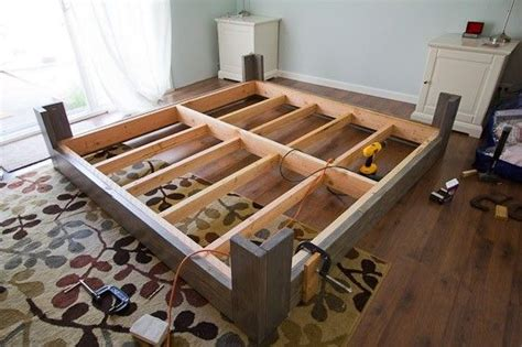 simple platform beds foter diy bed frame plans bed