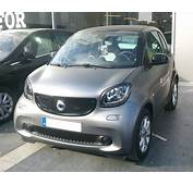Headlight Eyebrows Smart Fortwo 453 Look Carbon