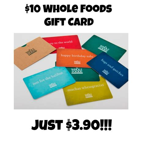 Whole Foods Gift Card Discount - hurry 10 whole foods gift card just 3 90