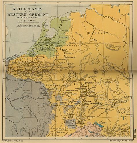 map of western germany map of the netherlands and western germany 1648 1715