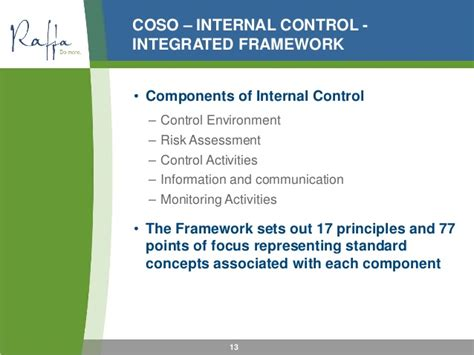 coso internal control integrated framework principles 2015 01 28 the role of the audit finance committee