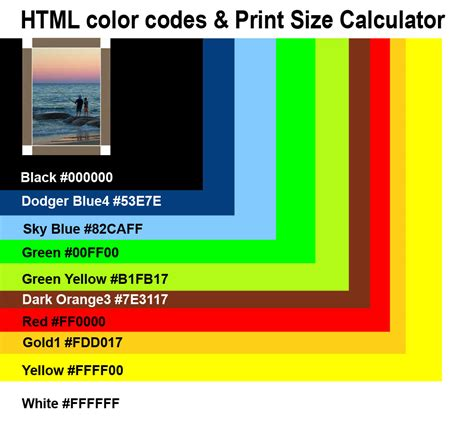 code color color codes html