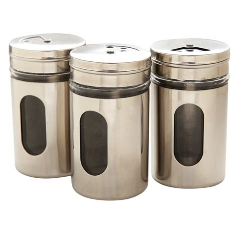 Seasoning Shaker Containers Stainless Steel Shaker Seasoning Cans Spice Pots Condiment