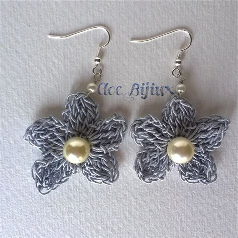 orecchini uncinetto fiore orecchini crochet fiore feste idee regalo di cloe