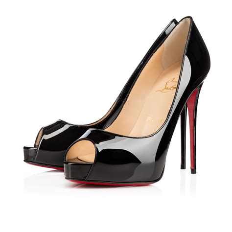 louboutin high heels black peep toe louboutin pumps with sky high heels