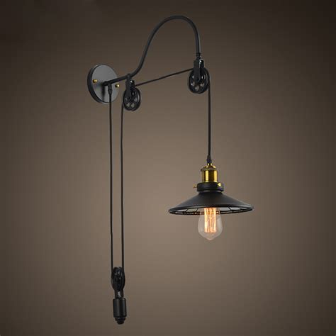 Adjustable Pulley Sconce aliexpress buy vintage industrial retro ameican country pulley adjustable edison wall