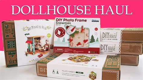 dollhouse november miniature dollhouse kit november haul robotime diy