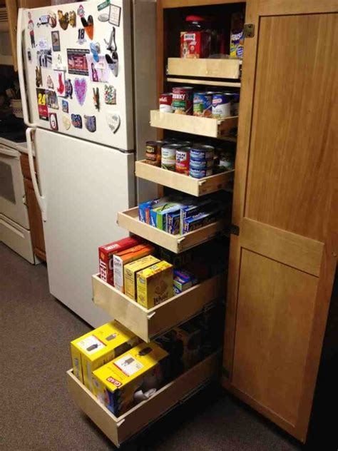 pull  pantry shelves decor ideas