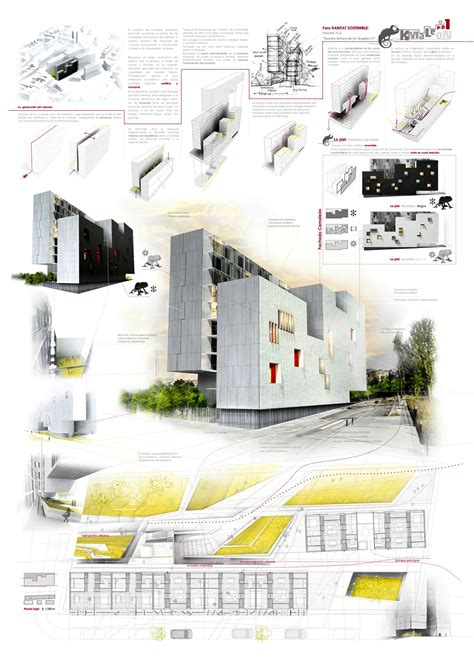 architecture design sheet layout kmaleon gea presenting architecture pinterest