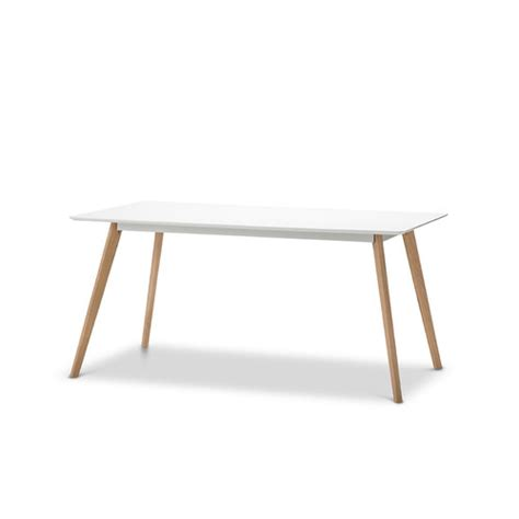 Scandi Dining Table White Scandi Dining Table Set With 4 White Phillipe Starck Master Chairs Temple Webster